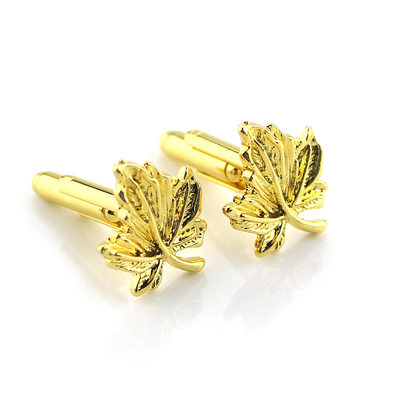 Coll Wonder Woman Cufflinks Metal Golden Color leaves Cuff botton High Quality Gift For Mens Shirt Cufflinks Movie Jewelry