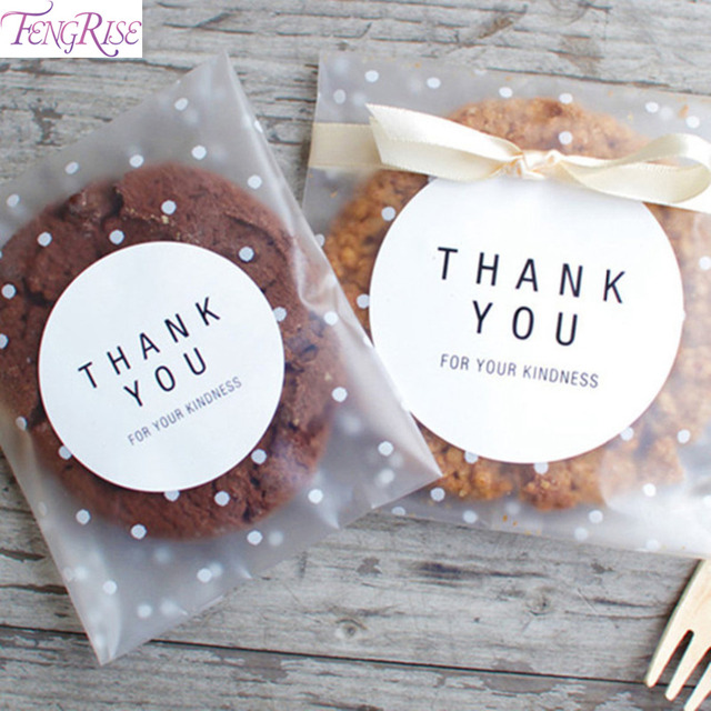 FENGRISE Goodie Bags Cellophane Small Plastic Cookie Bag Transparent Birthday Gift For Kids Candy