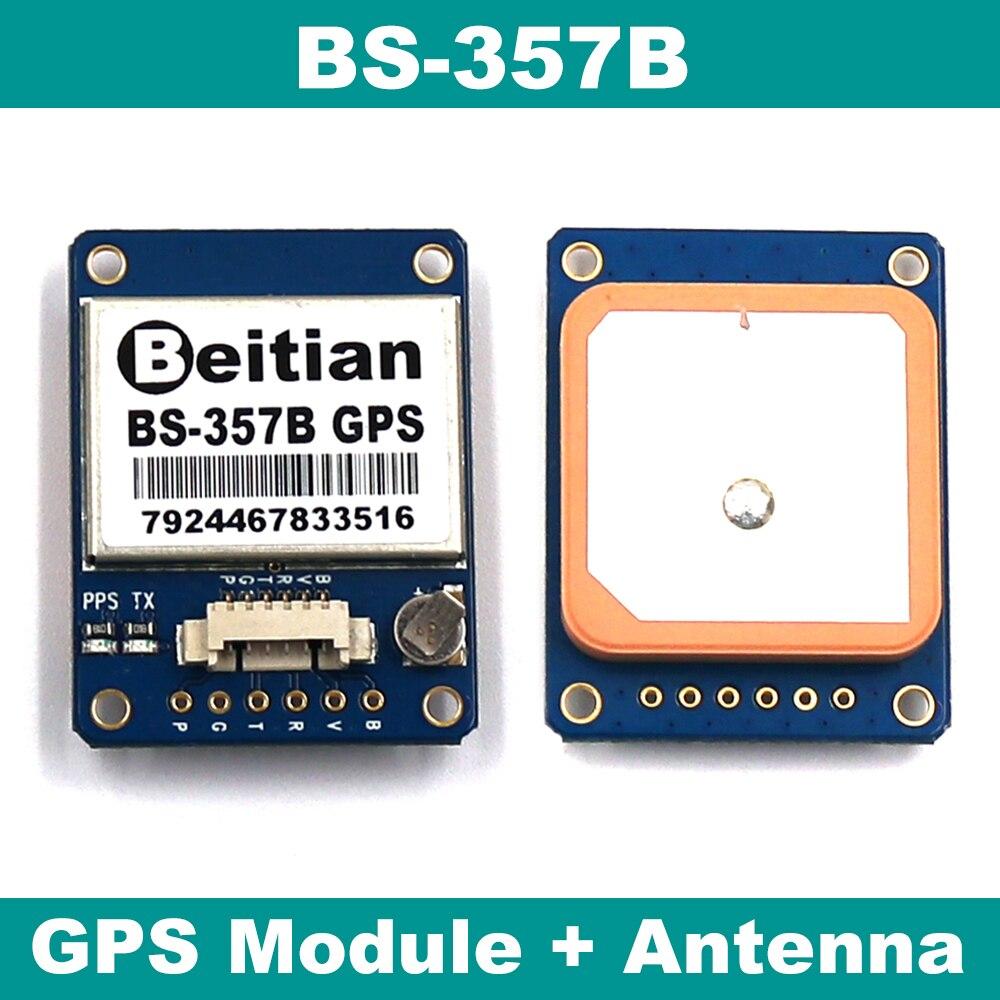 Высокоточный GPS модуль с антенной, RS232 Уровень GPS антенна, встроенный 4M FLASH,GPS приемник, BS-357B