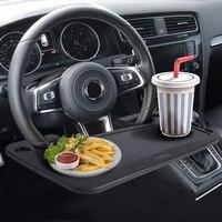 KEMiMOTO Universele Auto Draagbare Mini Bureau Notebook Standhouder Op Stuurwiel Voor BMW Voedsel Drinken Houder Auto Eettafel