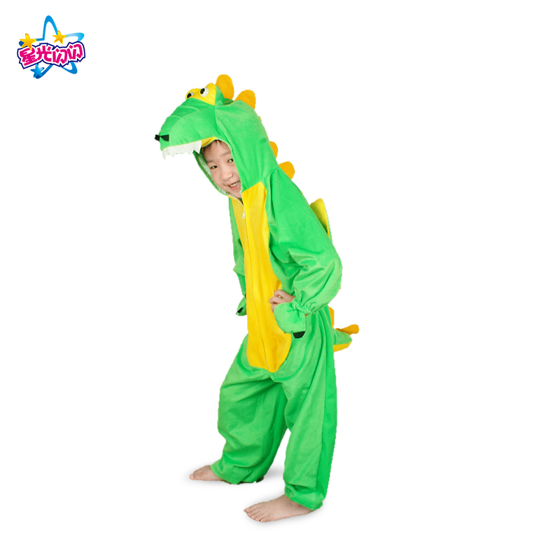 Free shipping Boy/Girl Cute Cartoon Animal Dinosaur Cosplay Costume Clothing for Kids Children's Day Costumes 2T-8T
