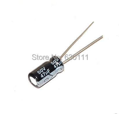 50 Pieces 47uF 50V Radial Leads Aluminum Electrolytic Capacitors 6x12mm
