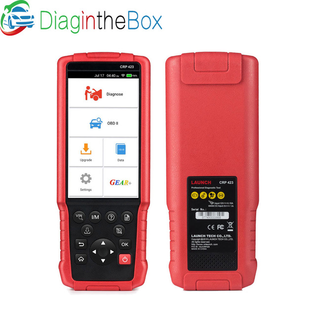 Big Sale LAUNCH X431 CRP423 OBD2 Code Reader Scanner support Engine/ABS/Airbag/AT OBD 2 CRP 423 Auto diagnostic tool CRP123 creader VII+