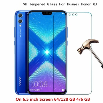 Tempered Glass For HUAWEI Honor 8X cover screen protective smartphone toughened case 9H on 6.5 inch crystals thin clear smartphone