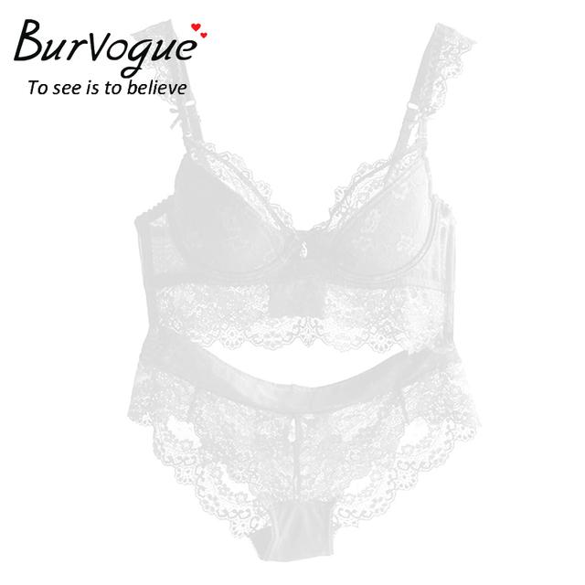 New Women Sexy Lace Lingerie Push Up Bra Set