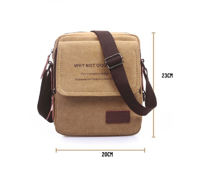 c08600ad5ca7 Vintage men canvas messenger bags men shoulder bag Crossbody bags black man  little brown bag designer handbags-in Travel Bags from Luggage   Bags on ...