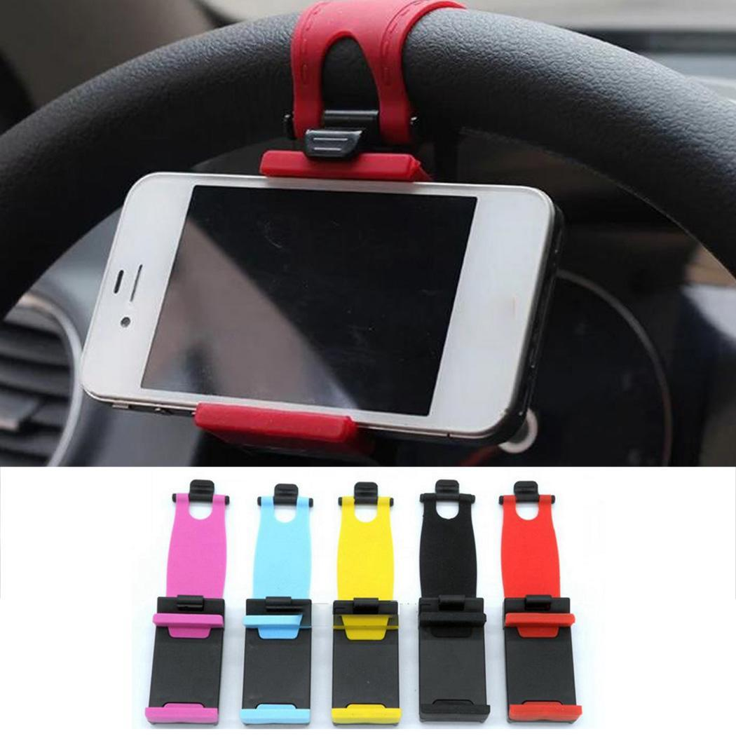 Car Holder Mini Air Vent Steering Wheel Clip Mount Cell Phone Mobile Holder Universal For IPhone Sumsuang Support Bracket Stand