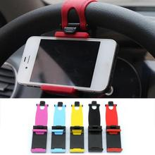 Car Holder Mini Air Vent Steering Wheel Clip Mount Cell Phone Mobile Holder Universal For iPhone Sumsuang Support Bracket Stand цена