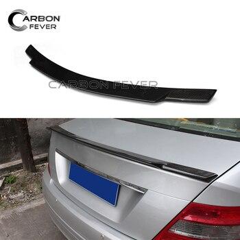 Ailes de coffre arrière pour Mercedes classe C W204 en Fiber de carbone becquet de coffre C180 C200 C250 C280 C300 Couple 2 portes 2007-2014