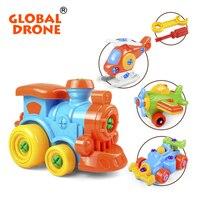 Global Drone Car Assembled Blocks Baby Educational Toddler Learning Kids Toys Kindergarten Developmental Toys Gift For
