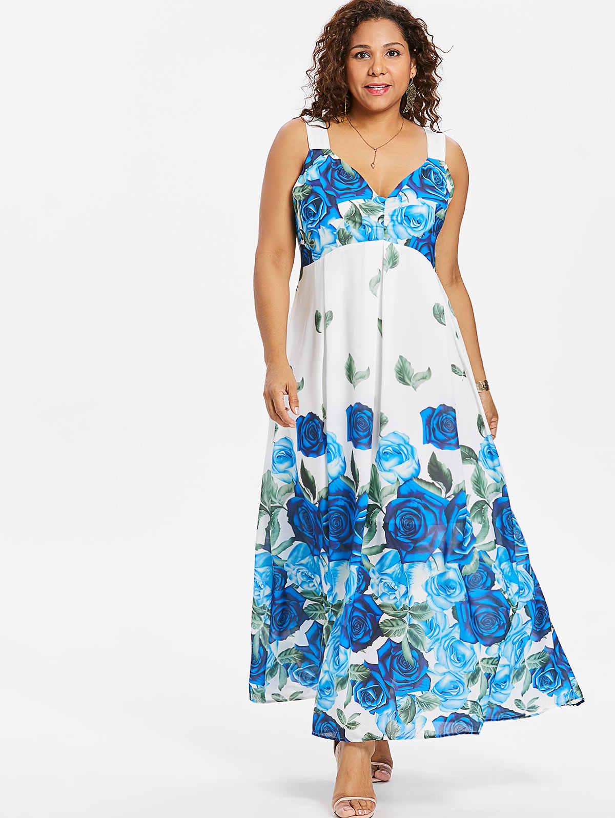 Wipalo Women Summer Bohemian Long Maxi Dresses Bodycon Sleeveless Floral  Print Boho Beach Floor Length Dress 65350abb91d0