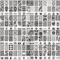 Diseño de encaje de la moda de uñas konad stamping nail art imagen/placas sello herramienta de manicura de uñas plantilla de la bc 10 unids