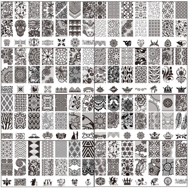 SuperDeals - Fashion Lace Design Nail Stamping Plates Nail Art Image ...