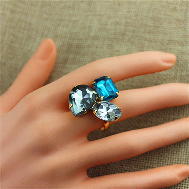 Hot sell  fashionable gorgeous women jewelry girl birthday party beautiful white green grey adjustable ring agent shipping SETS
