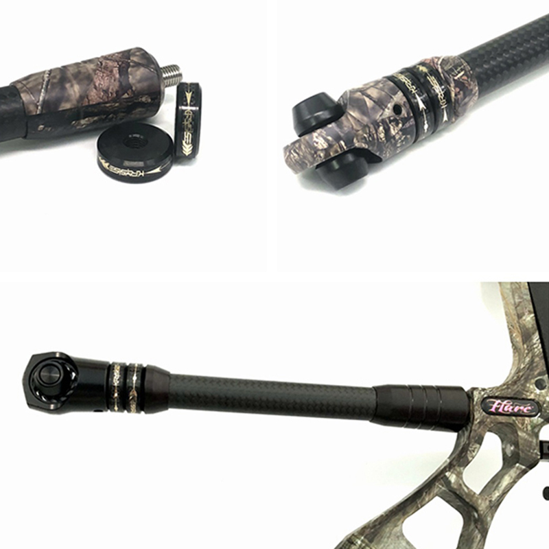 8-9 inch Adjustable Compound Bow Stabilizer Carbon Balance Rod Weight Damping Rod Dampener Reduce Shock