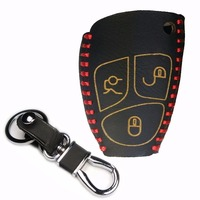 Leather 3 Buttons Car Smart Key Case Cover Fob For Mercede S Benz B C E