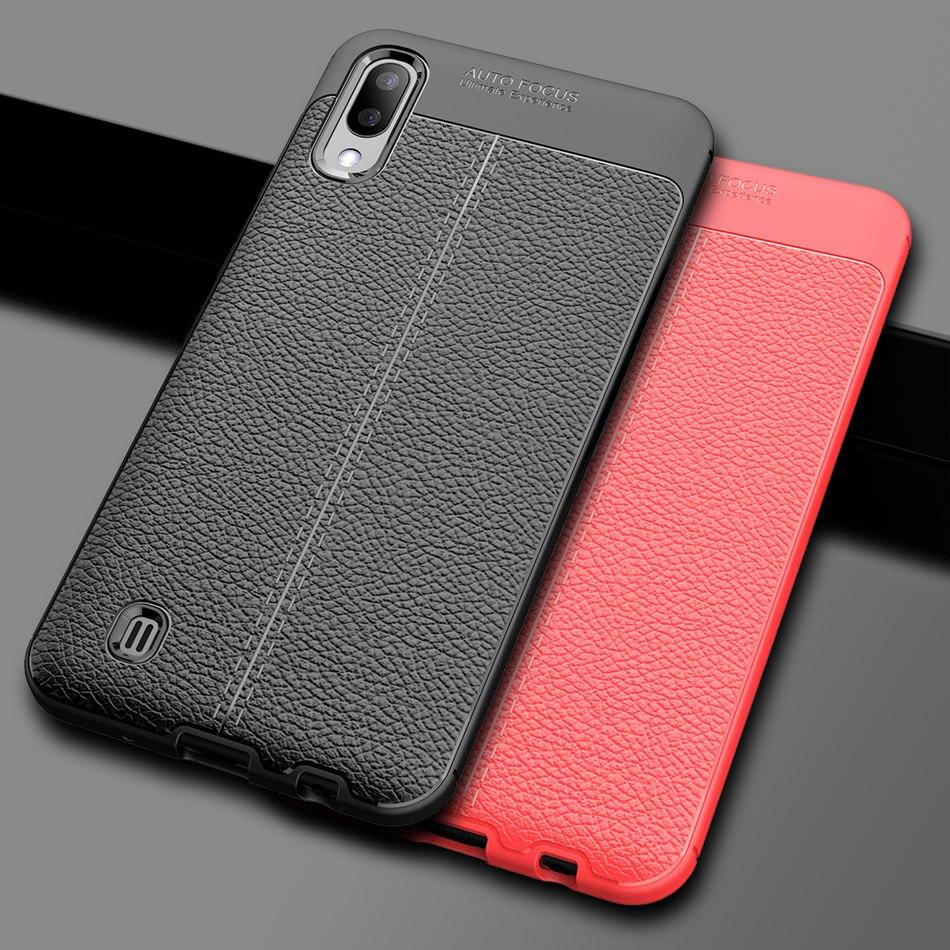 M10 Soft TPU bumper Case for Samsung Galaxy M10 case cover dermatoglyph back Cover for Galaxy M10 shell Capa Fundas