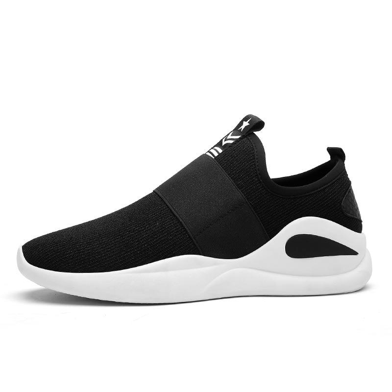 Des Hommes Sport Respirant Chaussures Black 01 03 Tempérament Tendance Gray Garçons Coréens Mode De Confortable Mâle Black Marée Marche 02 Whie 1WxSzwnt