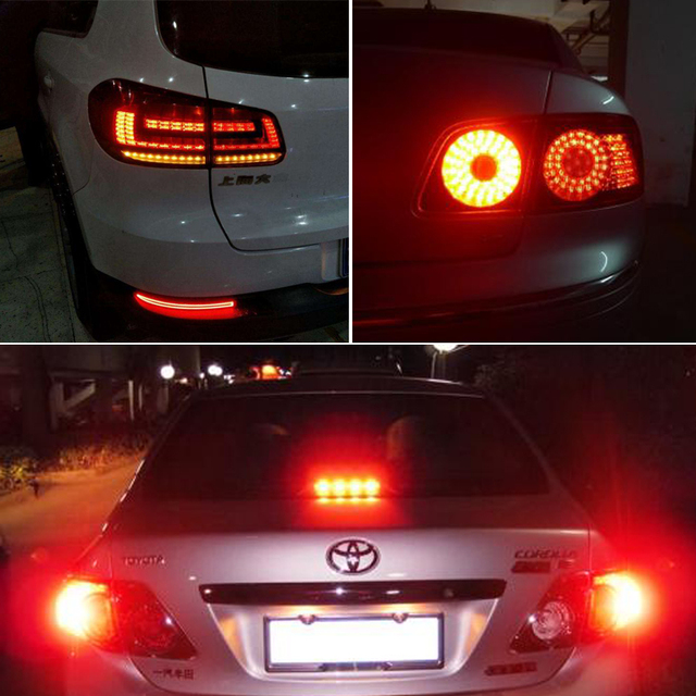 10x P21W 1157 BAY15D 1156 Ba15S Car LED Light Signal Bulb COB Super Bright Auto Turn Tail Reverse Parking Brake Lamp 12V 12SMD