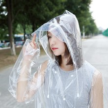 Transparent Long Raincoat Women Men,Rain coat Poncho Capa De Chuva Travel chubasqueros impermeables mujer Fashion Show