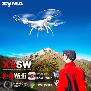 Image 2 - SYMA X5SW Quadcopter RC Drohne Mit Kamera Wifi FPV Echtzeit Übertragung RC Hubschrauber Headless Modus Drohnen Spielzeug Für Kinder