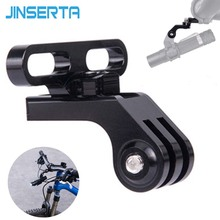 JINSERTA Flashlight Holder Mount for Gopro 7 6 5 Camera Stem Handlebar Extension Bicycle Adapter For MTB Road Bike Accessories