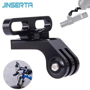 Image 1 - JINSERTA soporte para luz para Gopro 7 6 5 extensión de manillar de vástago de cámara, adaptador para bicicleta de montaña y carretera