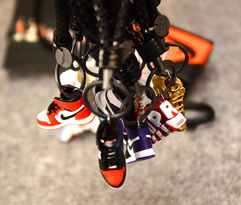 Keychain-Bag Sneaker-Model Couple Jordan-Generation DIY Stereo Air-Jordan1 Personality