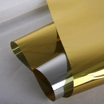 Spiegel Fenstertönung   SUNICE Gold Silber Spiegel Fenster Film Ein Weg Privatsphäre Glas Aufkleber Reflektierende Decor Tönung Film 80cm X 100cm