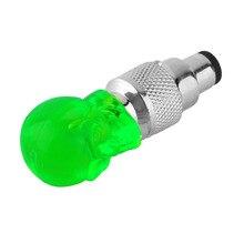 купить Wholesale1 pcs Skull Shape Valve Cap LED Light Wheel Tyre Lamp for Car Motorbike Bike дешево