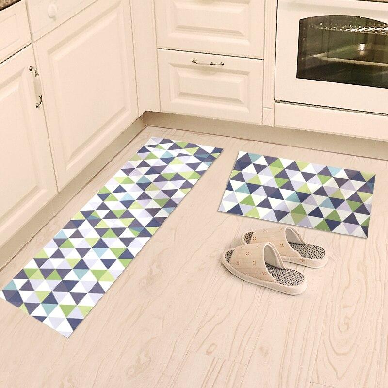 Tapis de cuisine nordique simplicité tapis de zone à rayures géométriques entrée/couloir paillasson anti-dérapant tapis de salle de bain tapis de garde-robe