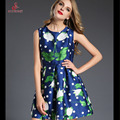 Rc de secret2017 mujeres wave impreso chaleco vestido de fiesta summer dress vestidos más el tamaño de las señoras de partido atractivo de la vendimia bodycon bata