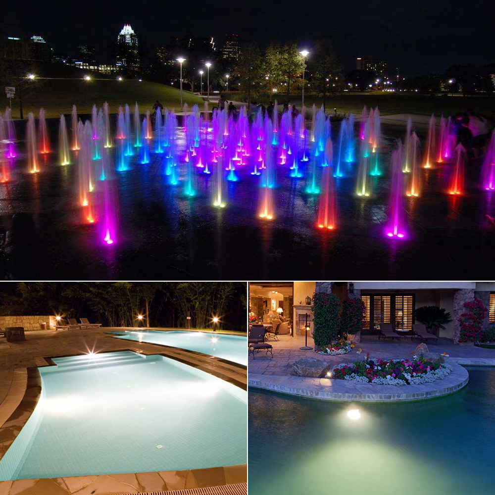 US $9.9 30% OFF|10W RGB Underwater LED Pond light Waterproof AC 12V  Spotlight Bulb Swimming Pool Fountain Garden Fishing Tank Piscina lamp-in  LED ...