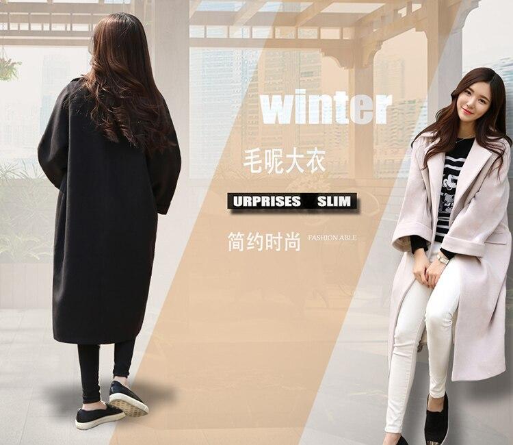 2016 beige Black Laine Vêtements Beige Nouvelle De Chaud Oversize Manteau G436 Mode noir Européenne Trench Femmes D'hiver rawrR4Sqx
