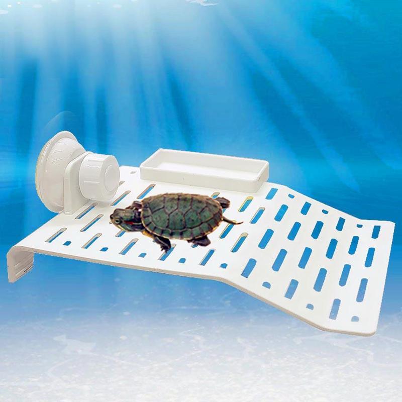 Acrylic Terrace Turtle Bask Terrace Island Floating Basking Platform Aquarium Tank Reptile Dock Toys Aquarium <font><b>Decorations</b></font> S/L