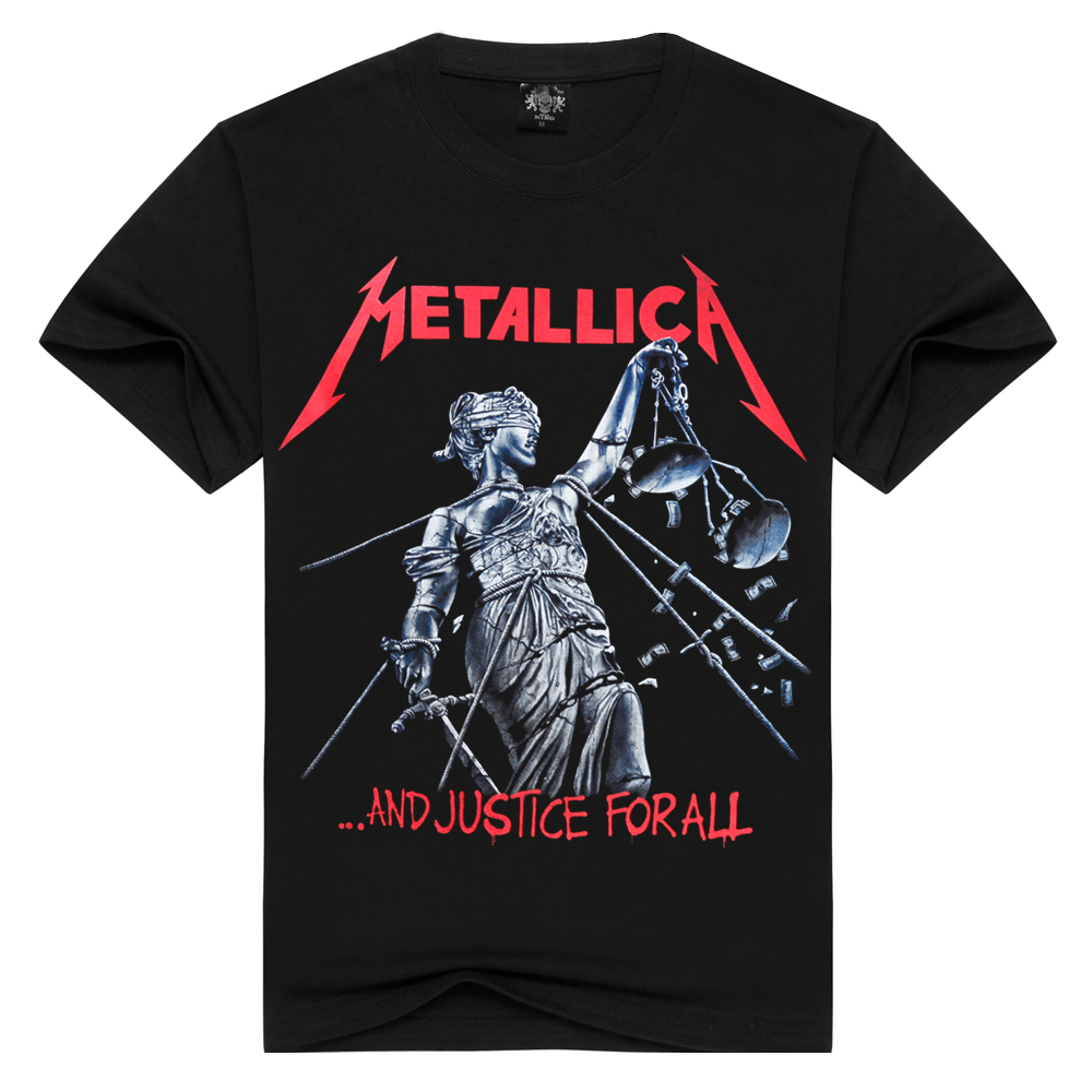 Grade A rock tee   shirt   men/women   t  -  shirt   METALLICA heavy metal music Thrash Metal   t     shirt   short sleeve band   t  -  shirts