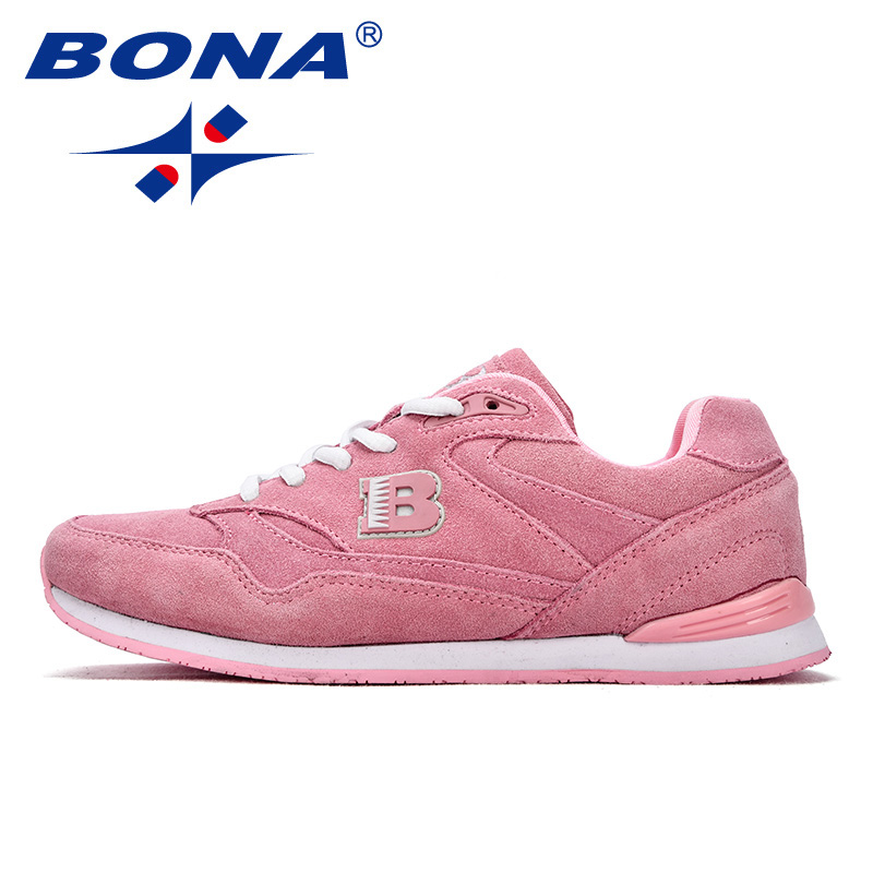 Image 5 - BONA New Classics Style Women Running Shoes Suede Leather 