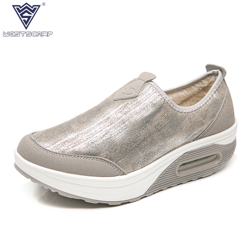 WEST SCARP Women Shoes Winter Women Flat, Slip On Fashion Ladies Winter Shoes Casual Flats Zapatos Mujer Plus Size 35-41 meotina shoes women loafers casual flats slip on female shoes plus size 43 44 embroidered ladies flat shoes white zapatos mujer