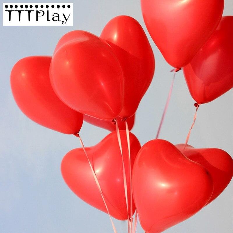 10 sztuk/partia 10 Cal czerwony miłość serce perła lateksowe balony nadmuchiwane dekoracje ślubne Party Air Ball z okazji urodzin zaopatrzenie firm