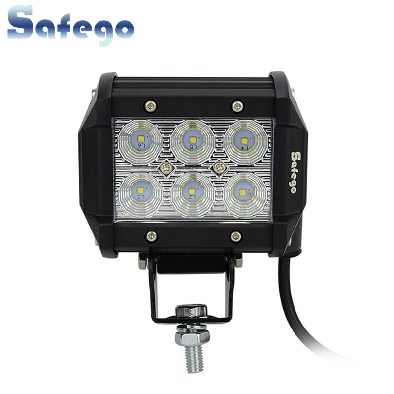 Safego 12 V LED Tractor 18 W Led Kerja Light Bar 18 W Offroad Light - Lampu mobil - Foto 1