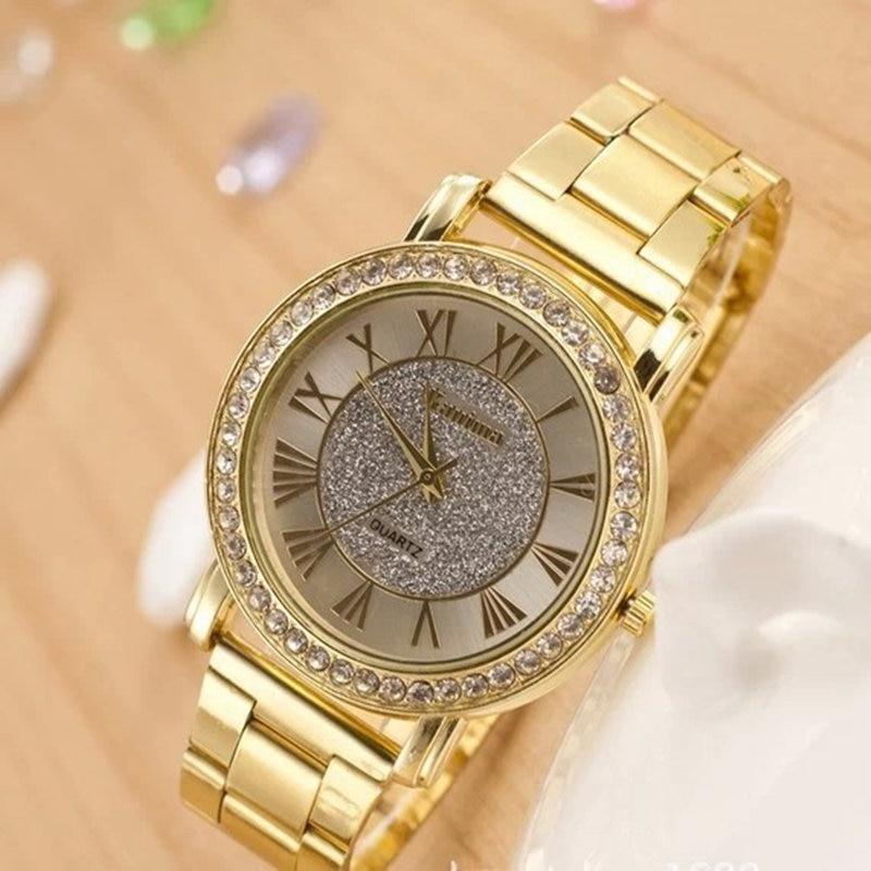 Dames luxe casual mode quartz horloge roestvrij staal horloges rose - Dameshorloges - Foto 4