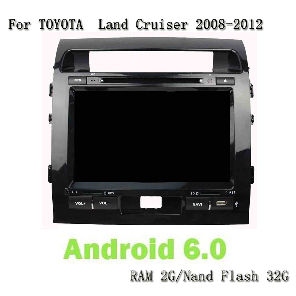 Android 6.0.1 Octa Core Car Gps Navigation DVD Player Car Radio Audio Video Multimedia For Toyota Land Cruiser 2008-2012