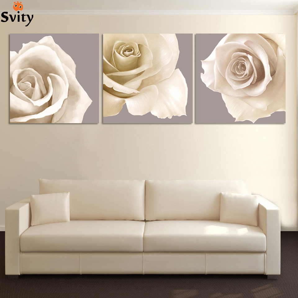ᑎ‰vintage home decor paintings wall art flower Modular Picture for ...
