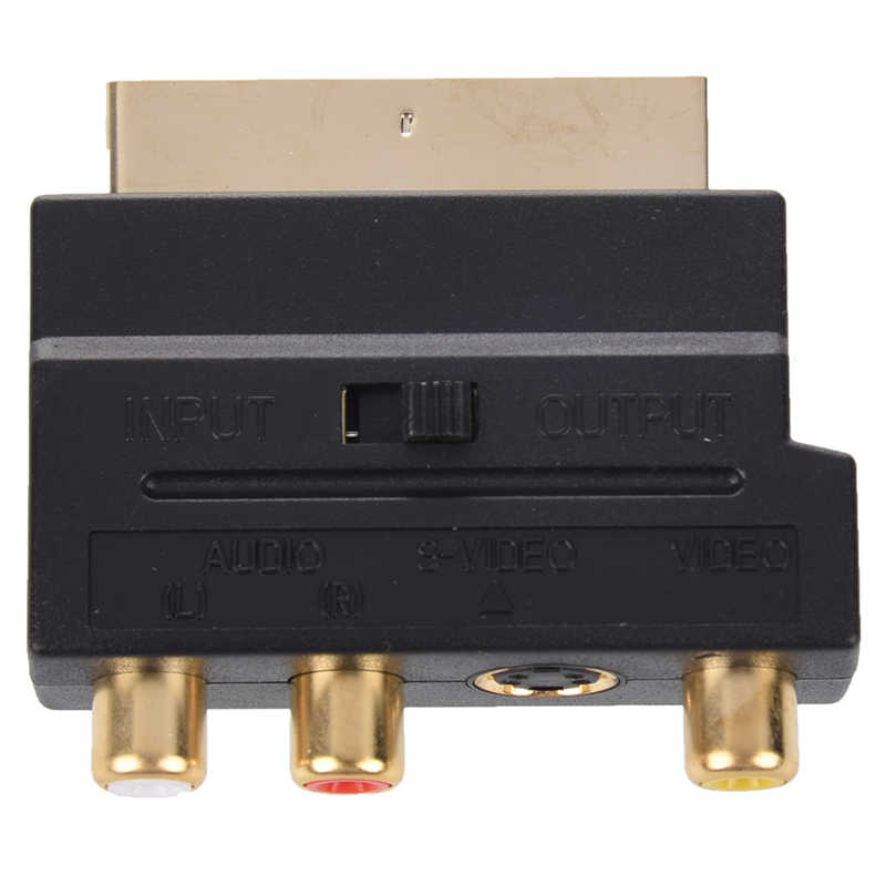 RGB Scart Composite RCA + S-Video AV TV อะแดปเตอร์ #8