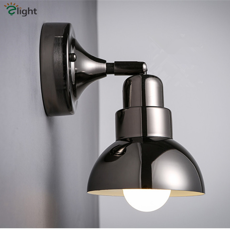 American Retro Industrial Plated Iron Loft Led Wall Lamp Simple Frosted Glass Bedroom Led Wall Lights Livingroom Led Lighting stylish simple letters pattern wall sticker for bedroom livingroom decoration