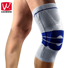 CAMEWIN Brand 1 Pair Knee Protector 2 Pieces Springs Knee Support Sports Safety Patella Guard Knee Pads for Men and Woman