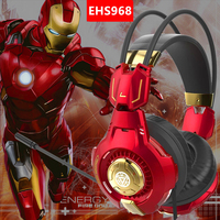 E 3LUE EHS968 the Avenger Iron Man Game headset Golded Professional Vibration wired gaming Headphone for PC