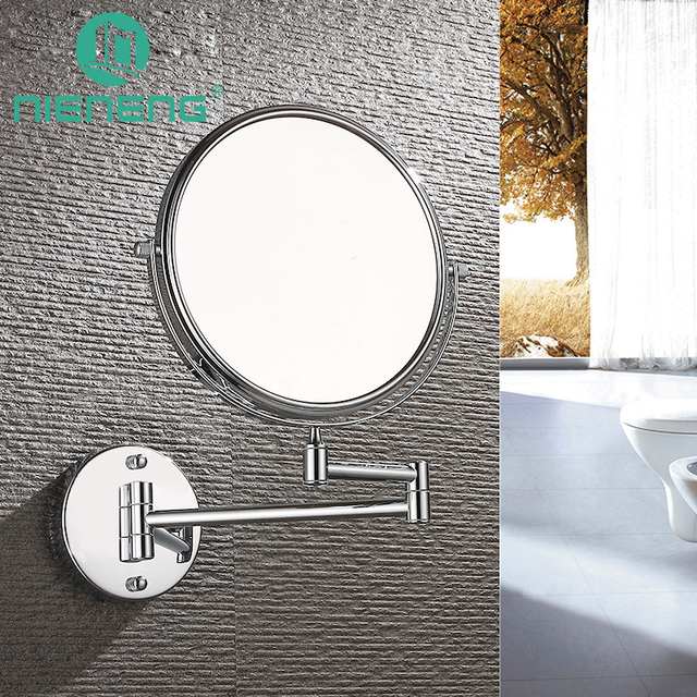 Nieneng Makeup Mirrors Wall Mounted Folding Cosmetic Bathroom Mirror