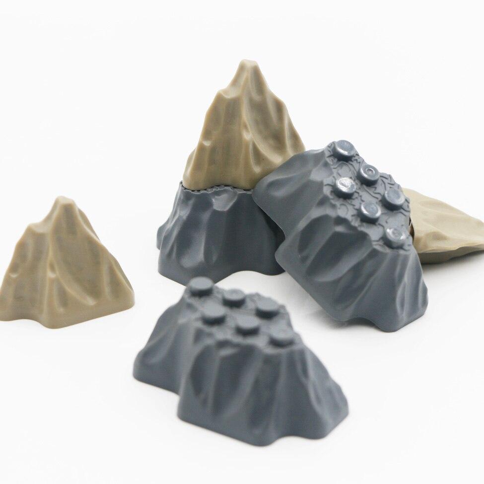 Город альпинистские аксессуары части холм MOC дом сад камень рок модель строительные блоки военные оружие Кирпичи игрушки для детей
