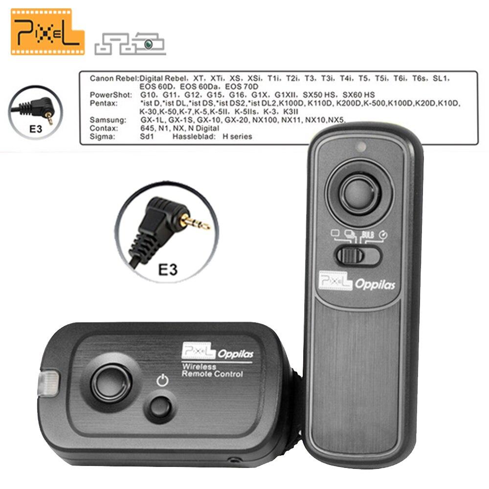 Pixel RW-221 E3 Sans Fil Déclencheur À Télécommande pour Canon 1300D 1100D 1000D 750D 700D 650D 600D 300D 60D G10 G11 G12 G15